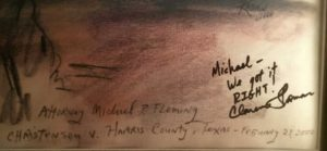 Justice Thomas Inscription