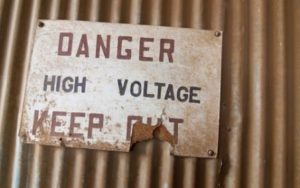 Danger High Voltage Sign Board