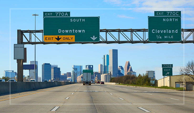 A highway in Houston, TX that has a high rate of truck accidents.