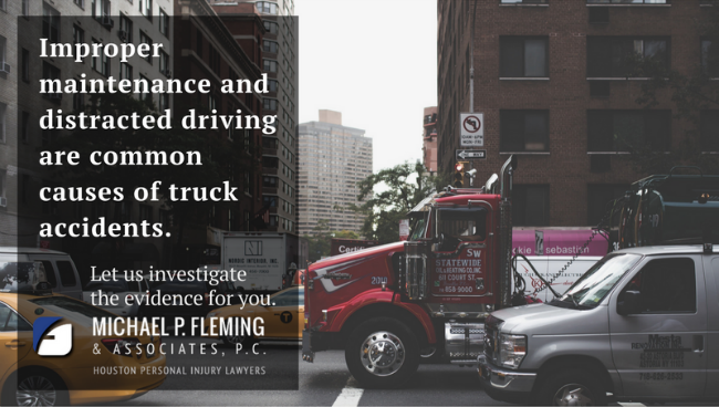 Truck accident statistic from a Houston truck accident attorney.