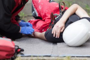 Injured worker from slip and fall at work - Pasadena Work Injury Lawyer